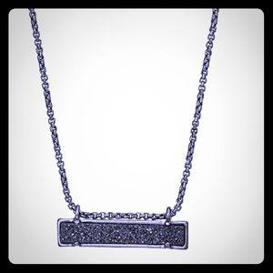 Kendra Scott Leanor Bar Gunmetal Pendant Necklace